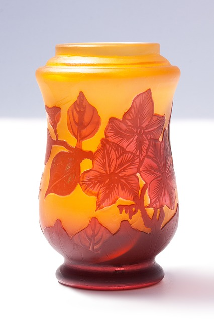 Free vase glass émile gallé art nouveau glass art