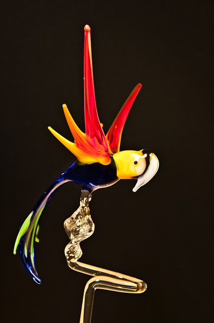Free parrot glass arts crafts glass blower turn