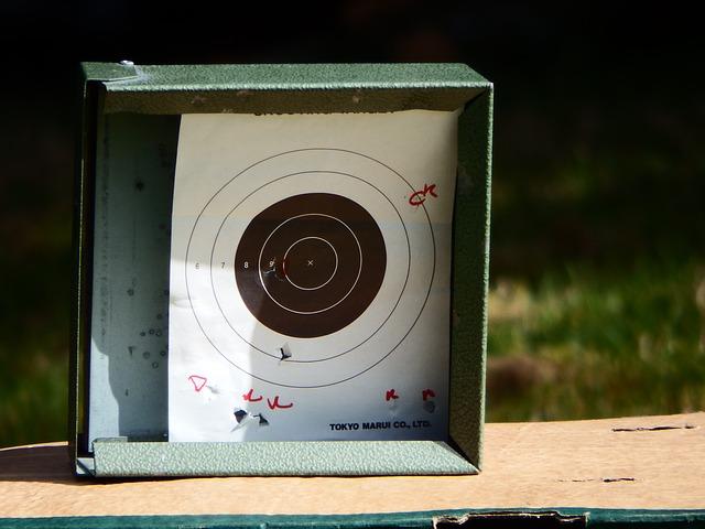 Free poor aim firing target paper white black