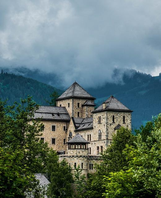 Free castle austria bruck mountains trees