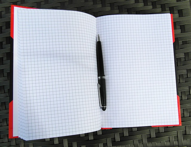 Free notebook notes black open pen