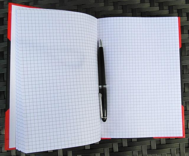 Free notebook notes black open pen
