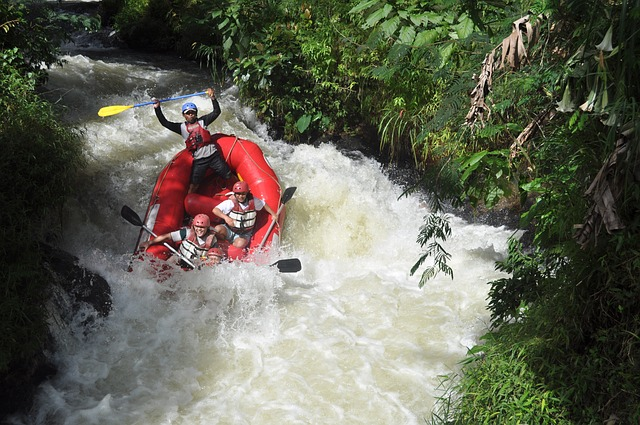 Free river rafting adventure