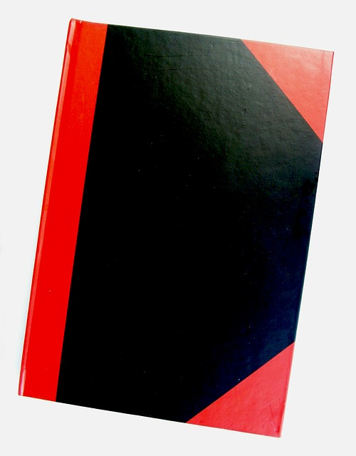 Free notebook notes corner red black