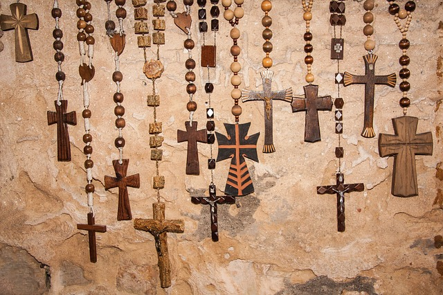 Free rosary rosaries beads christian cross wood jesus
