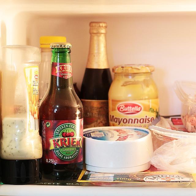 Free refrigerator bottle beer kriek cherry cheese
