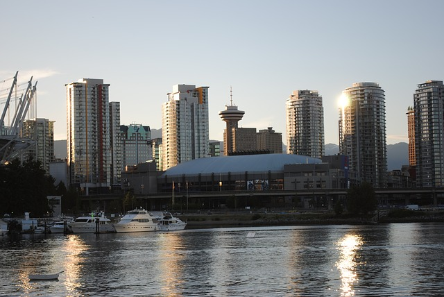 Free vancouver canada skyscrapers abendstimmung