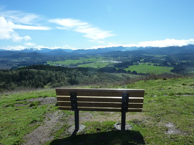 Free view bench horizon scenery sky peace peaceful