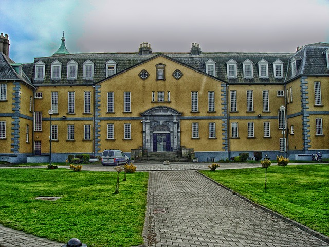 Free dublin ireland hospital building pavement grounds