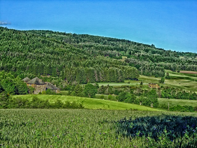 Free france mansion house home mountains landscape