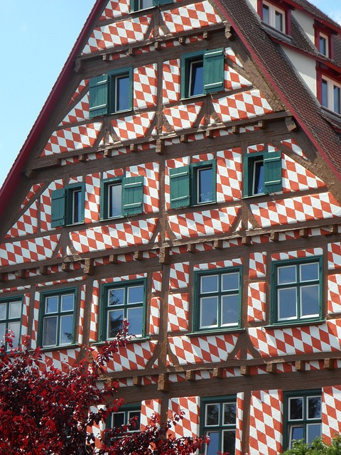 Free home building fachwerkhaus ulm old town housewife
