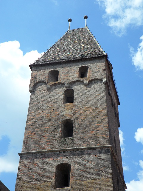 Free metzgerturm tower building ulm sky old masonry