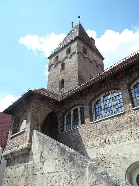 Free metzgerturm tower building ulm sky old masonry