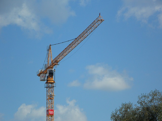 Free crane sky blue build construction work site