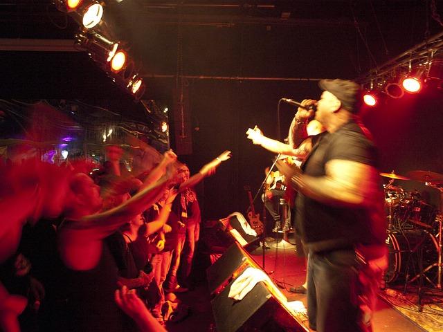 Free concert underground rock band sound musician