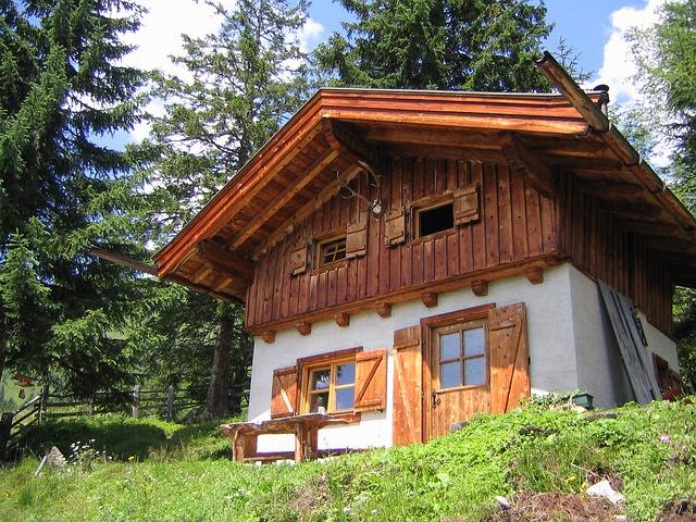 Free mountain hut alpine mountains holiday hut
