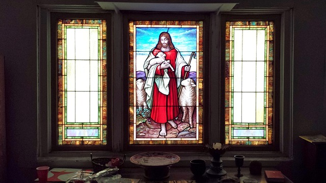Free stained glass jesus light