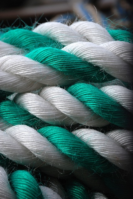 Free rope green white coiled coil