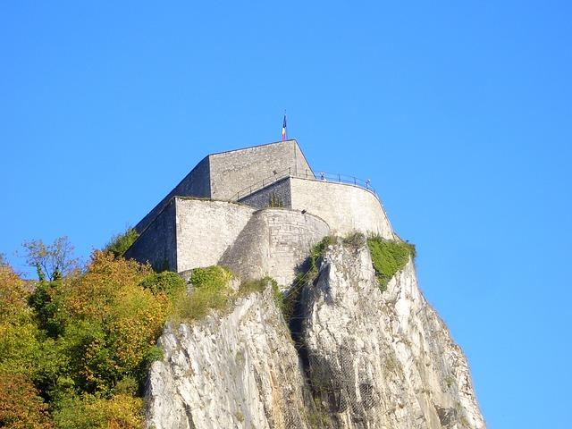 Free dinant fortress belgium rock old