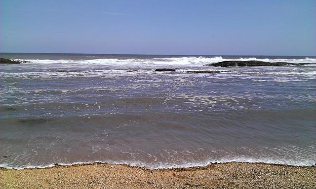 Free sea ocean tide beach sand water sky wave waves