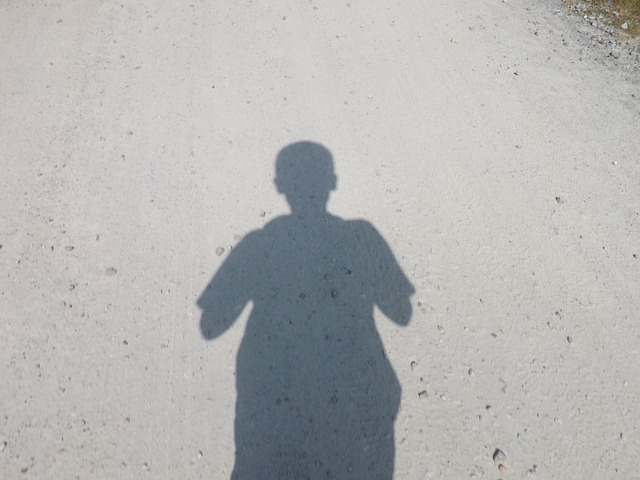 Free shadow path boy silhouette person profile outline