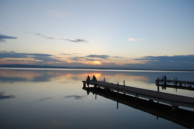 Free sunset albufera valencia jetty landscapes