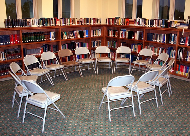 Free chairs circle library discussion education learn