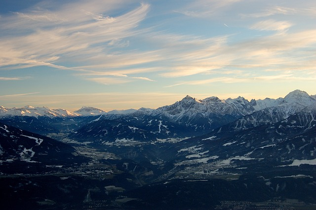 Free innsbruck mountains snow distant view sunset