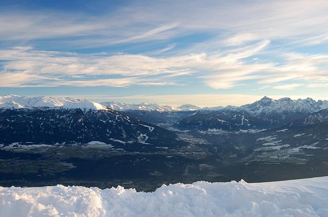 Free Photos: Innsbruck mountains snow distant view sunset   Jörg Möller