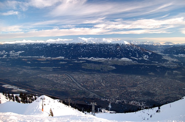 Free innsbruck mountains view of the valley skilft view