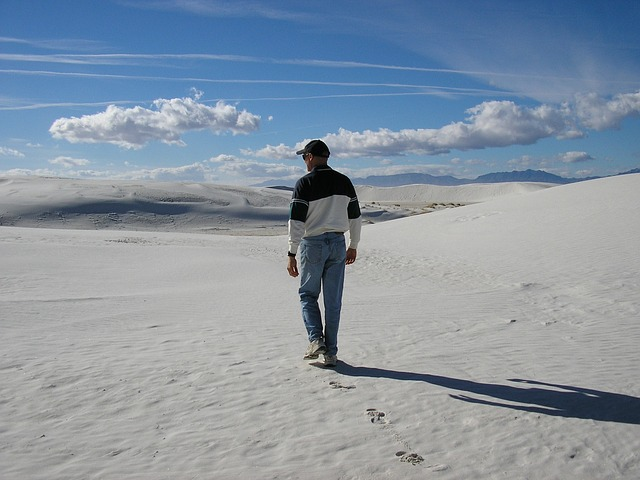 Free white sands new mexico sand scenic footprints