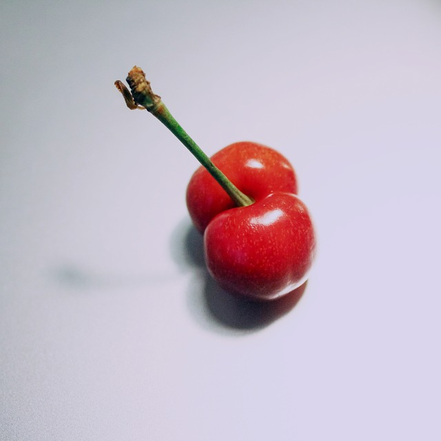 Free minimalist still life fruit cherry red white