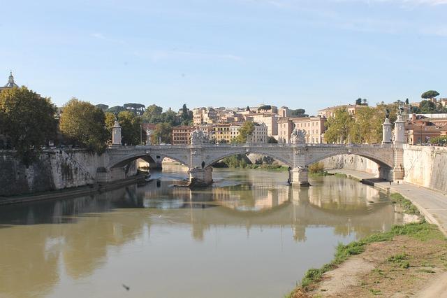 Free rome bridge river tiber