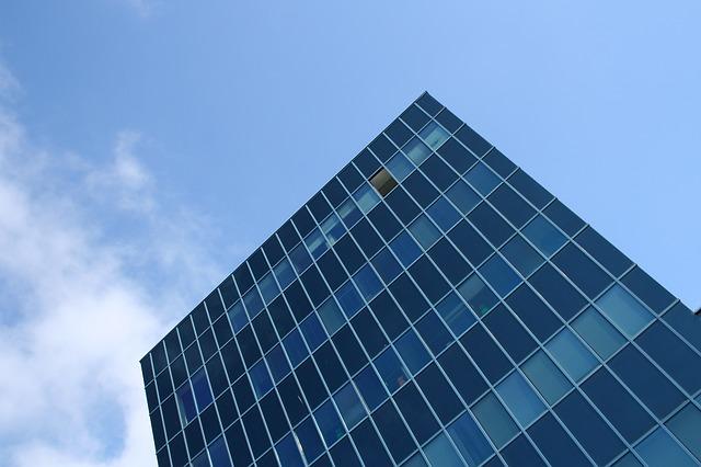 Free architecture blue skyscraper building window city