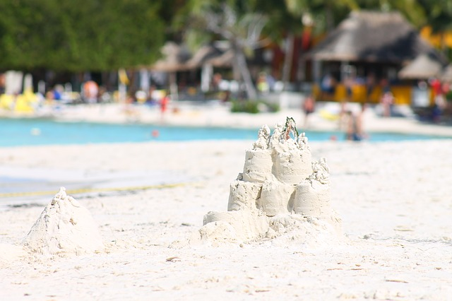 Free sand white sand summer beach sand castle