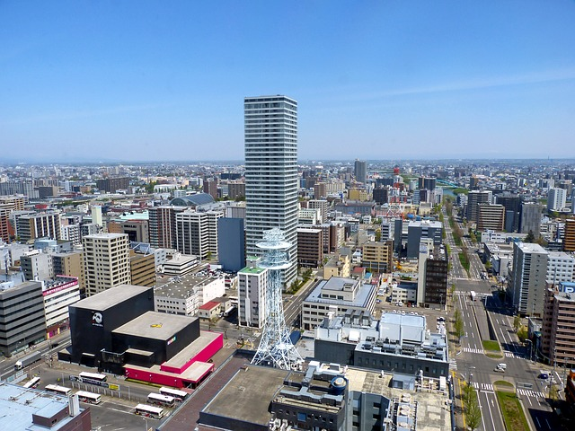 Free japan sapporo hokkaido panoramic view urban