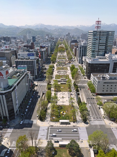 Free japan sapporo urban architecture buildings city