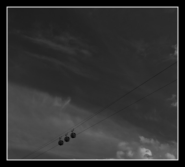 Free cable car mountain tracks aerial matlock
