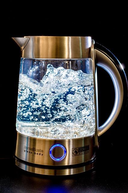 Free kettle glass water blow geraert hot cook
