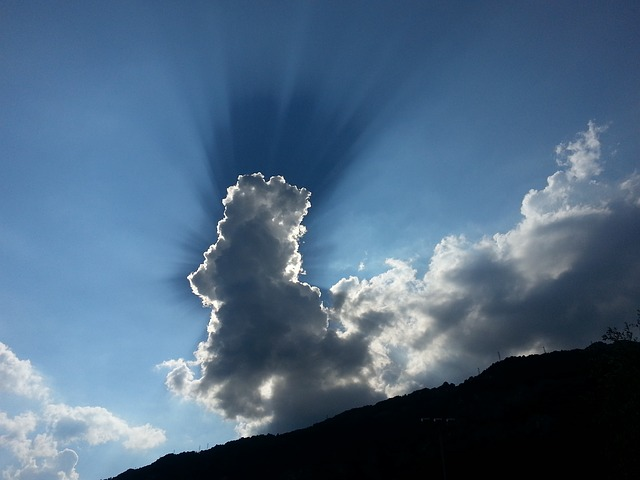 Free clouds sun rays of sunshine ray sky