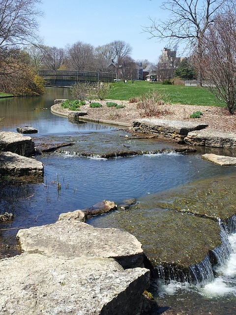 Free franklin park creek pond waterfall nature stream