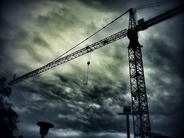 Free crane construction work sky crane boom site build