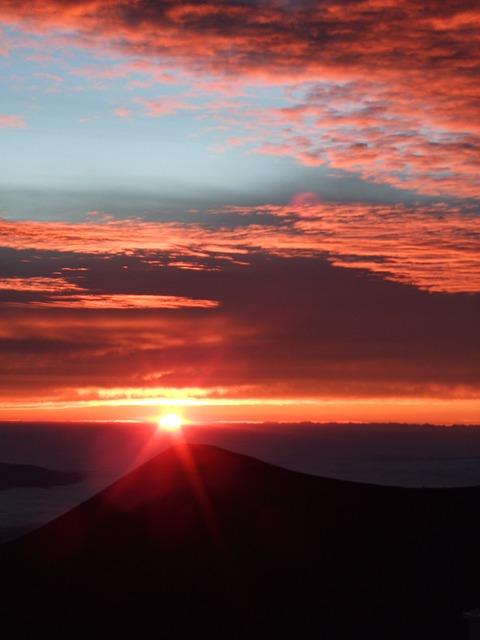 Free mauna kea summit top sunset island of hawaii
