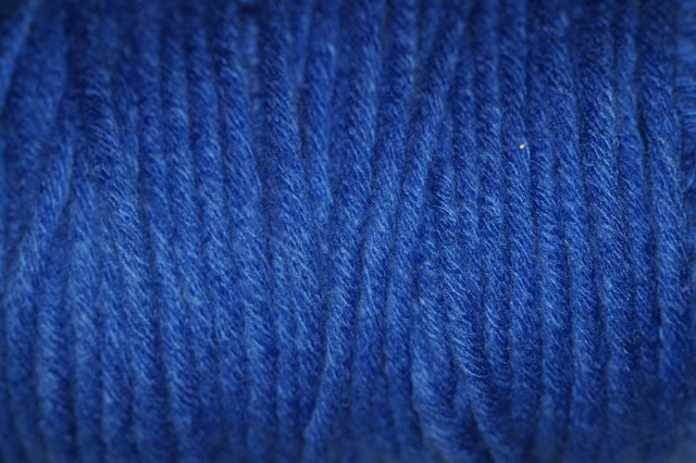 Free blue wool structure texture woollen cat's cradle