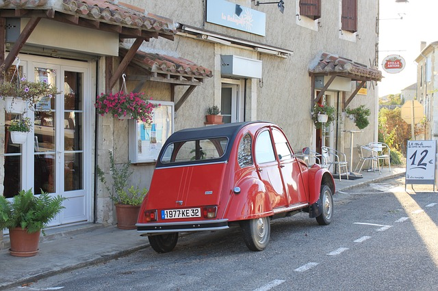 Free citroen 2cv car france red transportation vehicle