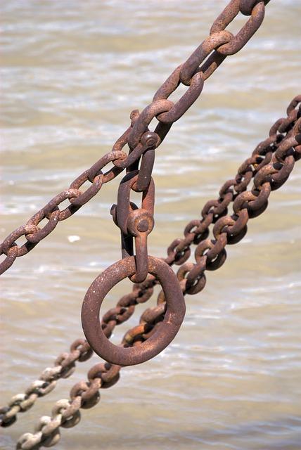 Free chain rust weathered old iron metal