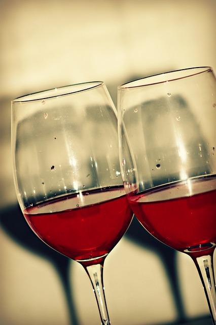 Free red glass wine glass