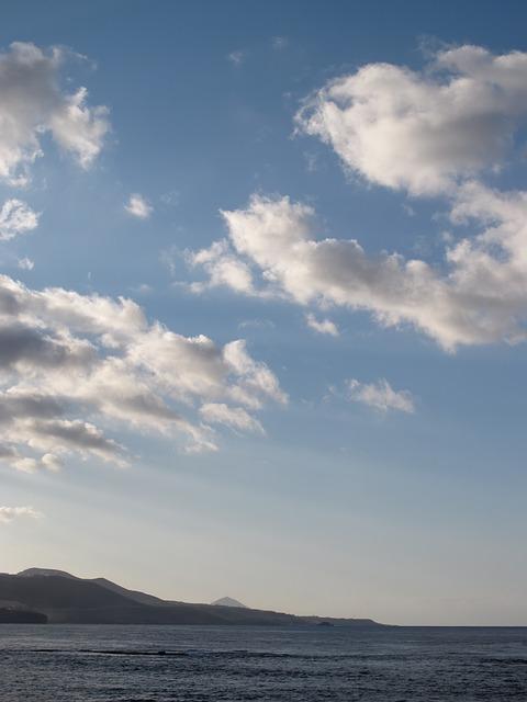 Free beach sky blue clouds sea island costa sunset