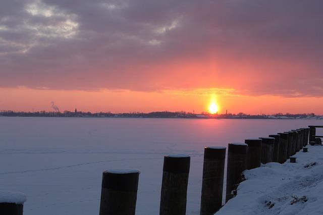Free greifswalder bodden sunset abendstimmung ice winter
