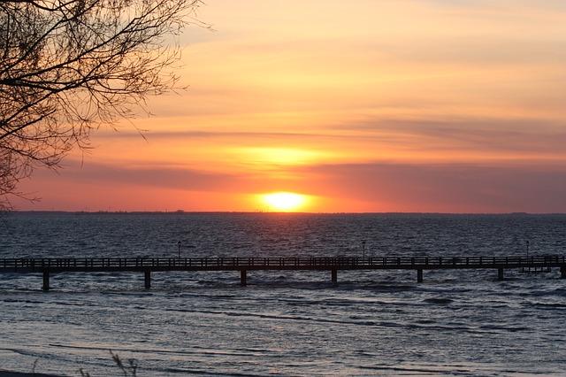 Free sunset beach evening sky sun sunset sky